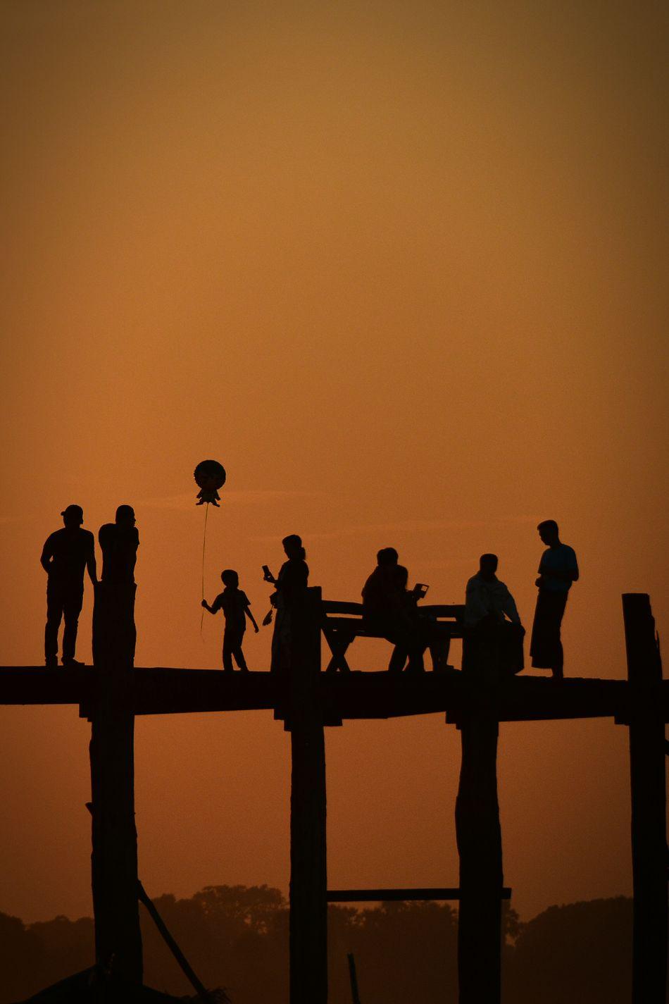 Beautiful stock photos of group, Balloon, Bridge, Childhood, Children