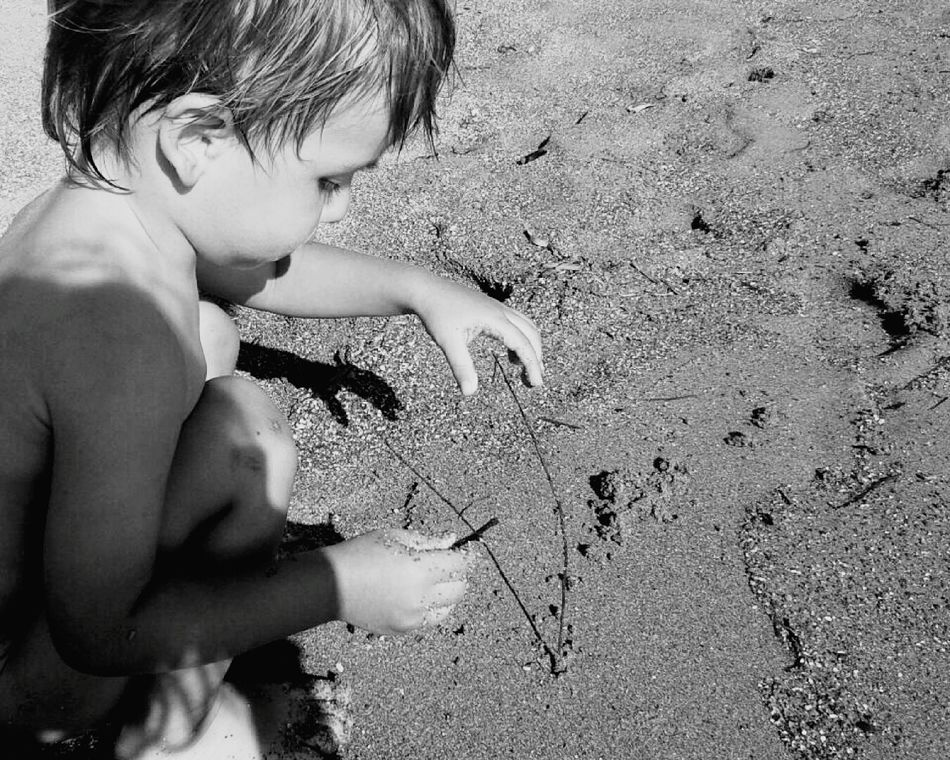 Beach Child So Lovely Adore Playing Sandcastles Uniqueness EyeEmNewHere Welcome To Black
