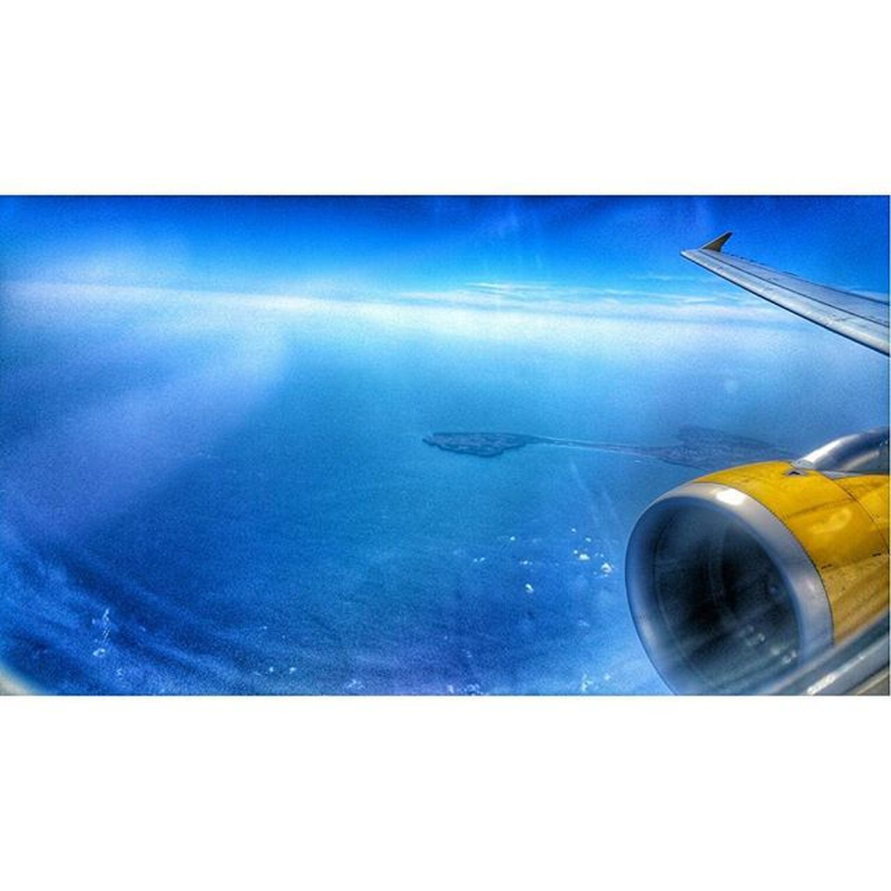 transportation, water, blue, mode of transport, no people, airplane, close-up, travel, day, outdoors, sea, airplane wing, sky