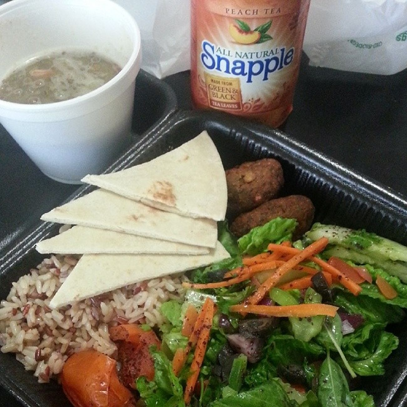 It's not lunch with the guys but I still love it DrKabob Vegetarian plate Delicious Palate savory