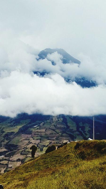 Tungurahua Tungurahua-Ecuador Tungurahua Volcano Tunguragua-Cotopaxi Cloud - Sky Ecuador♥ ECU Ecuador Landscape Nature Outdoors High Angle View Social Issues Mountain Scenics Day Sea Beauty In Nature No People Grass Water Sky EyeEm Nature Lover Eye Em Best Shots - Nature EyeEmNewHere The Great Outdoors - 2017 EyeEm Awards