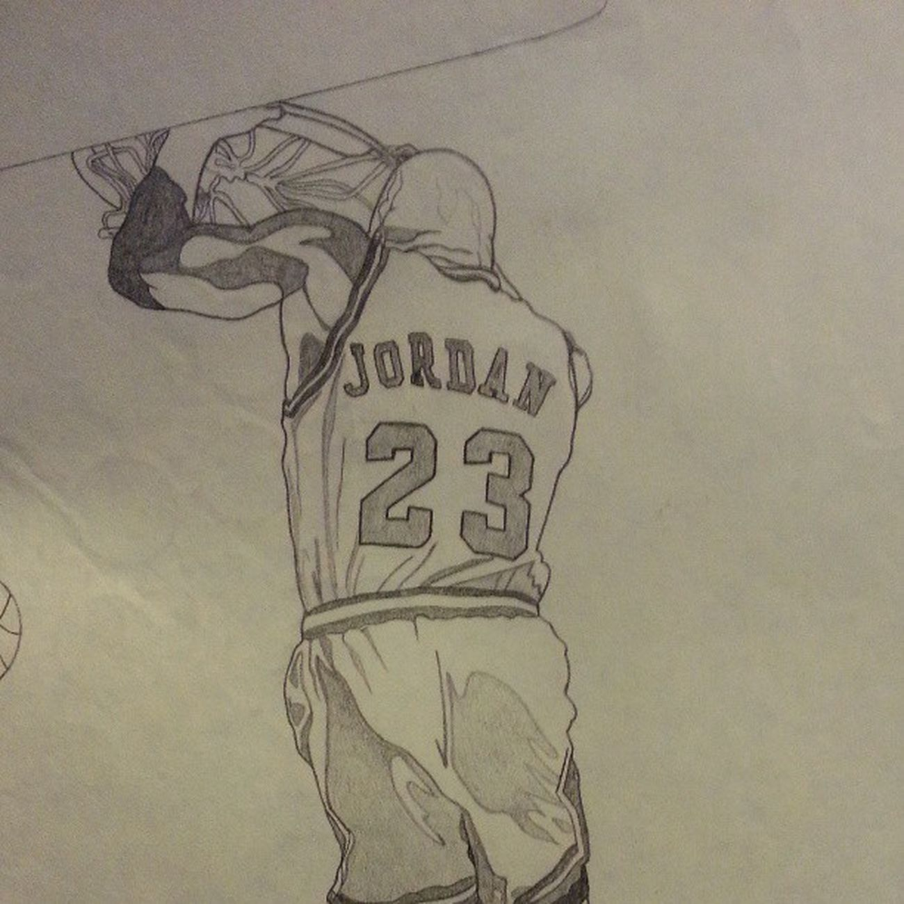 Michaeljordan Dunk Art Drawings nba