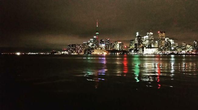 Toronto:) Toronto Toronto Skyline Torontophoto Torontophotography Skyline Night Lights Night Lake Lakeshore Lake Ontario Lake Ontario CN Tower CN Tower