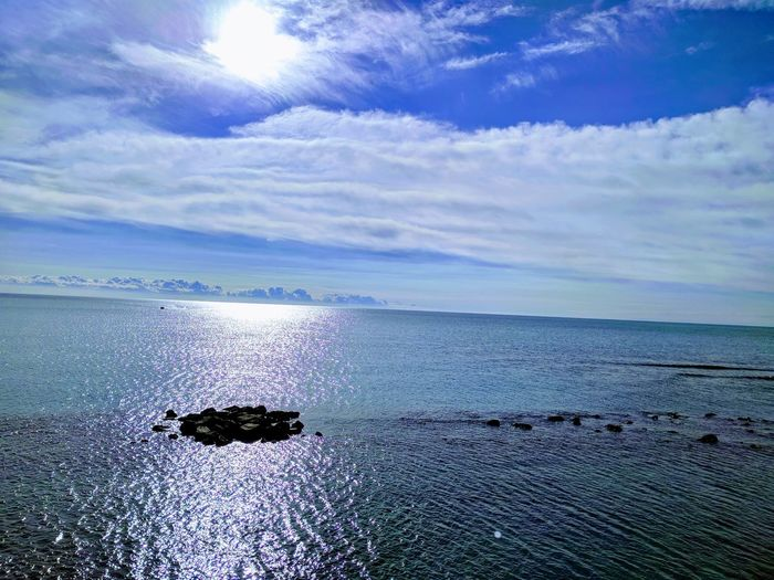 Relax by the sea! EyeEmNewHere Sea Water Sky Cloud - Sky Nature Outdoors Beauty In Nature Horizon Over Water Blue Beach Day
