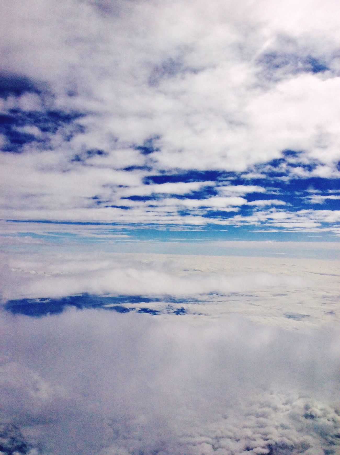 From An Airplane Window Clouds And Sky