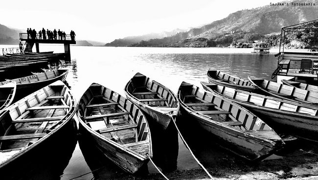 Beautiful Nepal Beautiful Nature Taking Photos Lake Of Pokhara Hello World We Will Rise Again Black And White Photography
