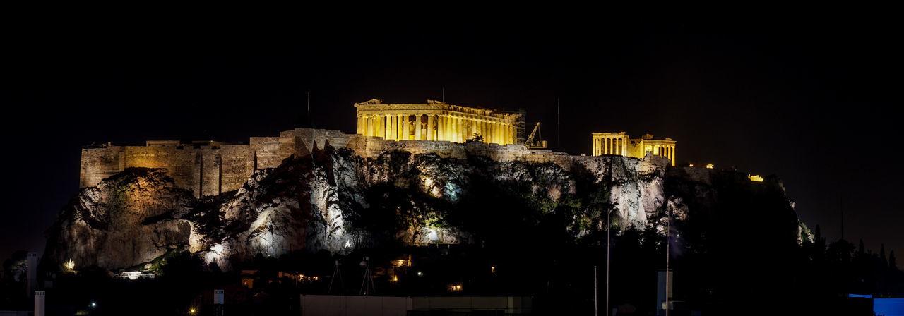 Acropolis at Night. Athens, Greece Athens Greece Acropolis Parthenon Mountain City Europe Hellas Night Column Pillar History Greek City Architecture Travel Illuminated Travel Destinations