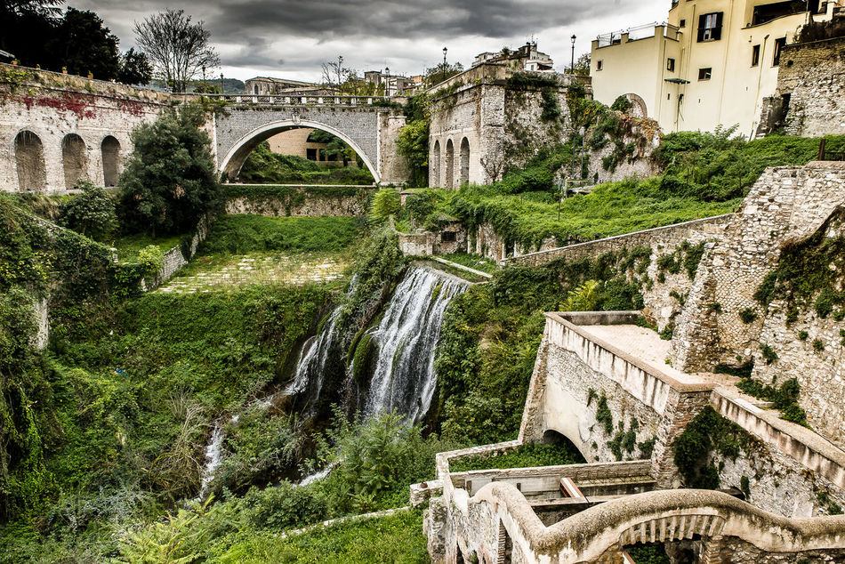 Gregorian Villa - Tivoli - Italy Archeology Architecture Bridge Bridge - Man Made Structure Building Exterior Built Structure Cascata Cloudy Day Falls Green History History Architecture History Through The Lens  Nature No People Oldbuilding Outdoors Rovine Tourism Travel Travel Travel Destinations Travelling Water