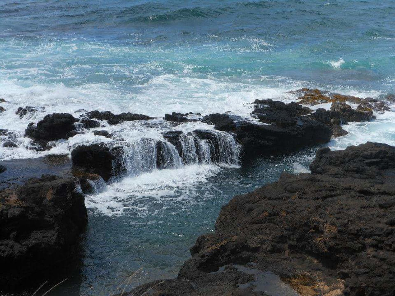 Water Beach Splashing Wave Outdoors Beauty In Nature Sea Scenics Close-up Nature Day Kauai Hawaii Ocean View