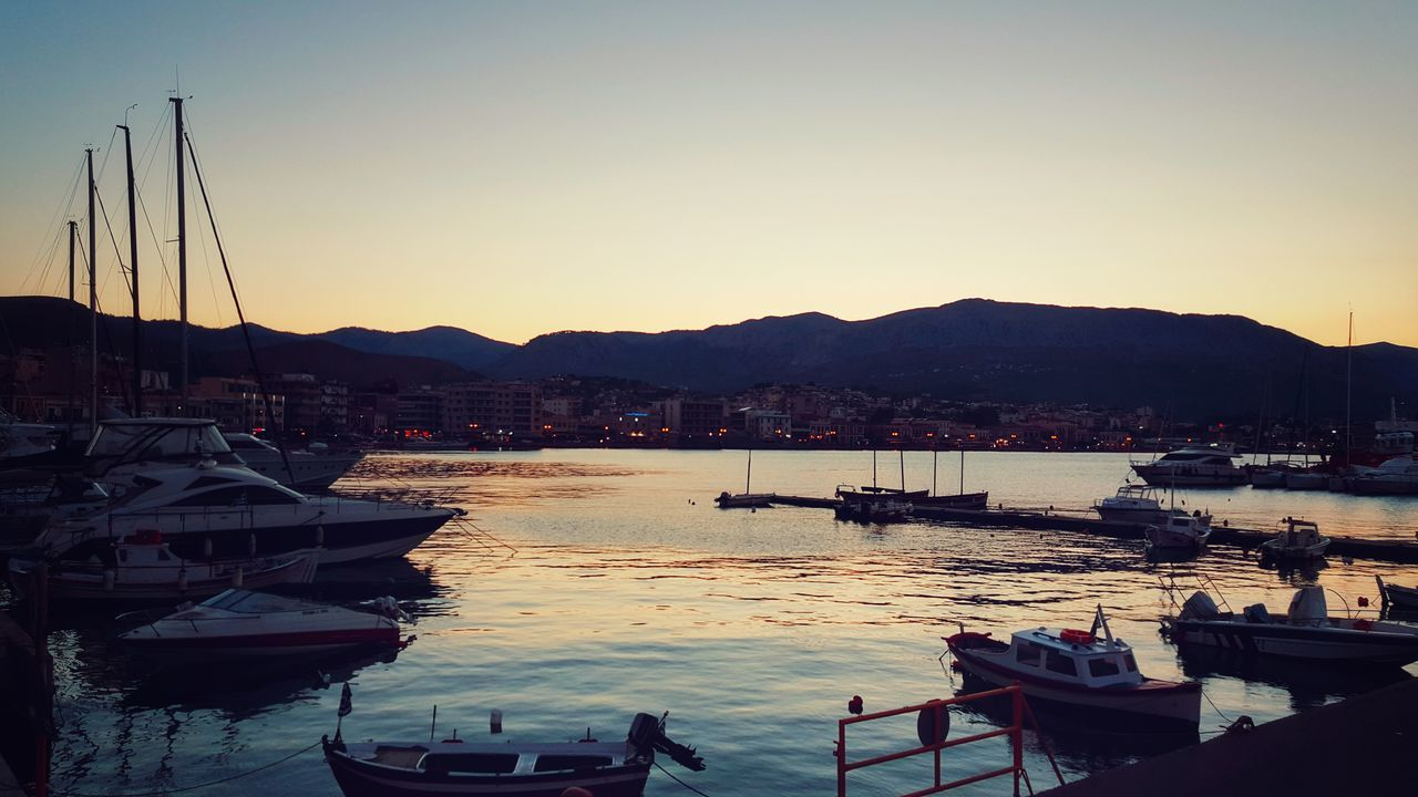 City Life Cityscape Just Before Sunset Light And Shadow Sailboats At The Port Sunset Silhouettes City Lights Sailing Boats Port Life Summer Views Pastel Power Boats City View  Night Lights Nightphotography Summer Night Malephotographerofthemonth - Greek Islands Greece