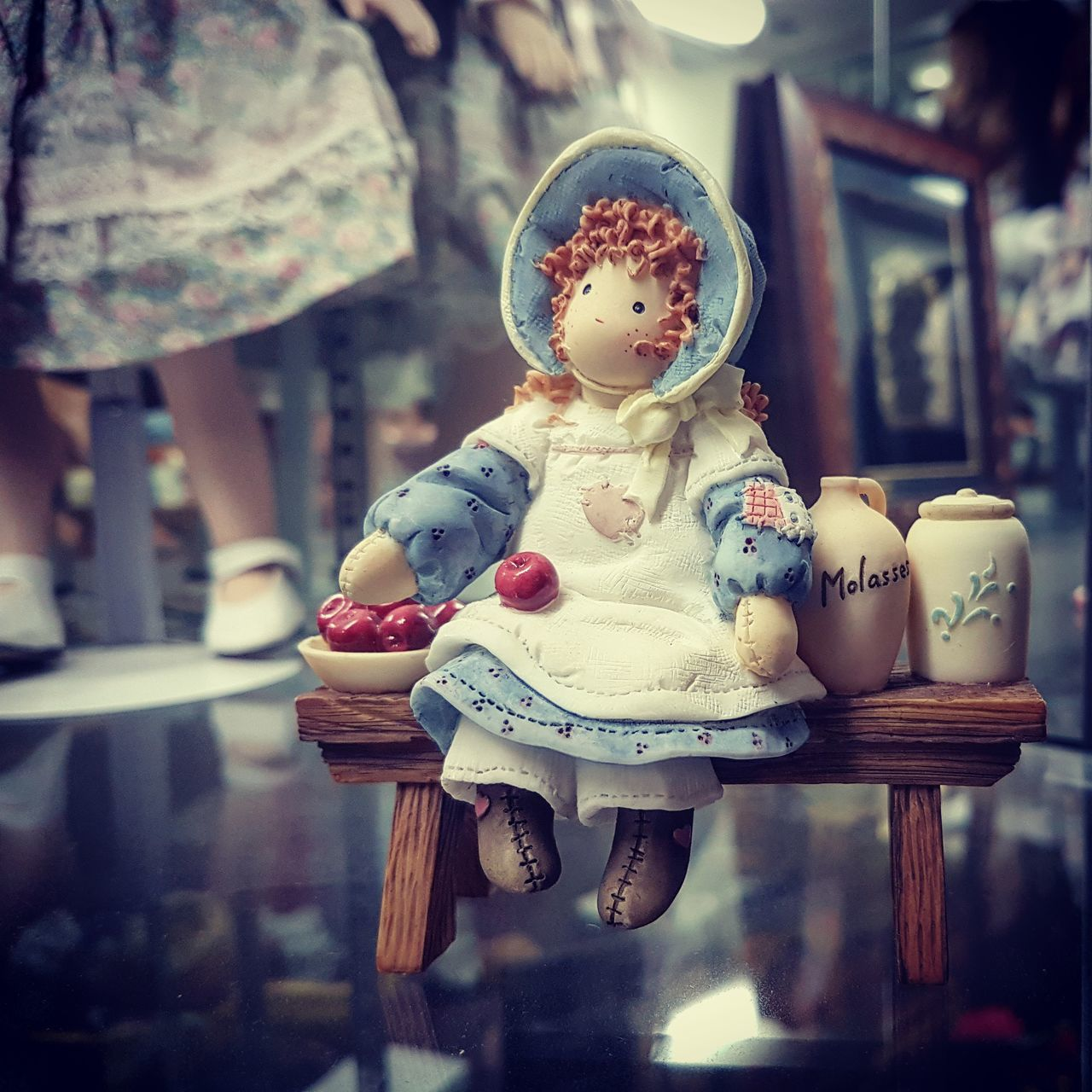 human representation, focus on foreground, doll, childhood, day, no people, close-up, outdoors
