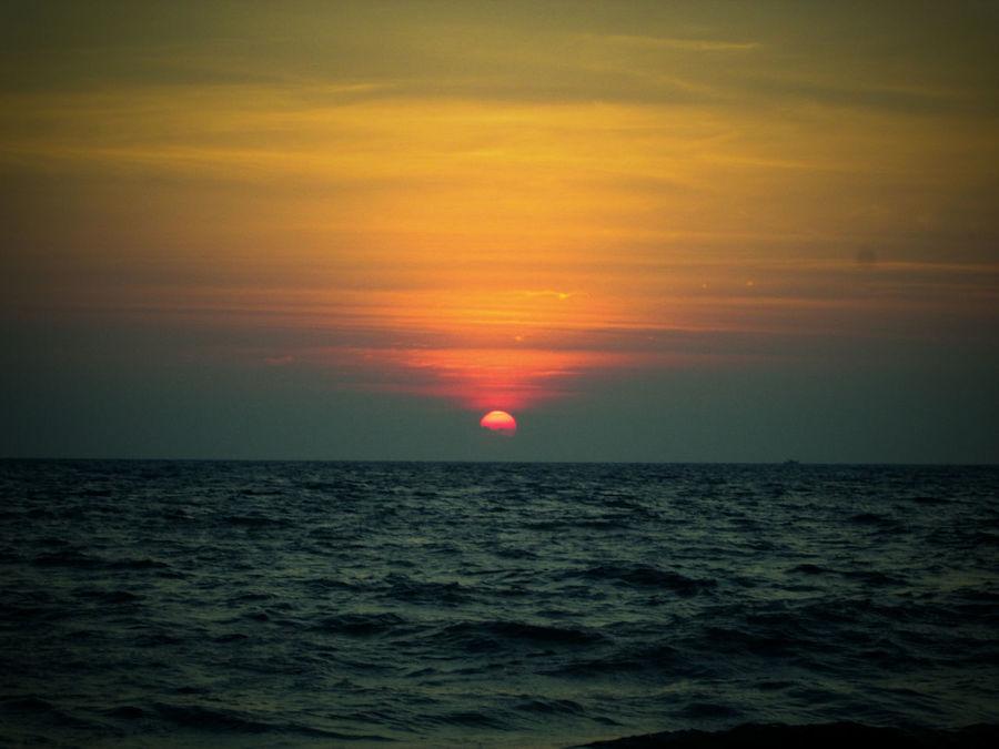 Warm Radiant Sky Sunset View. Beach First Eyeem Photo