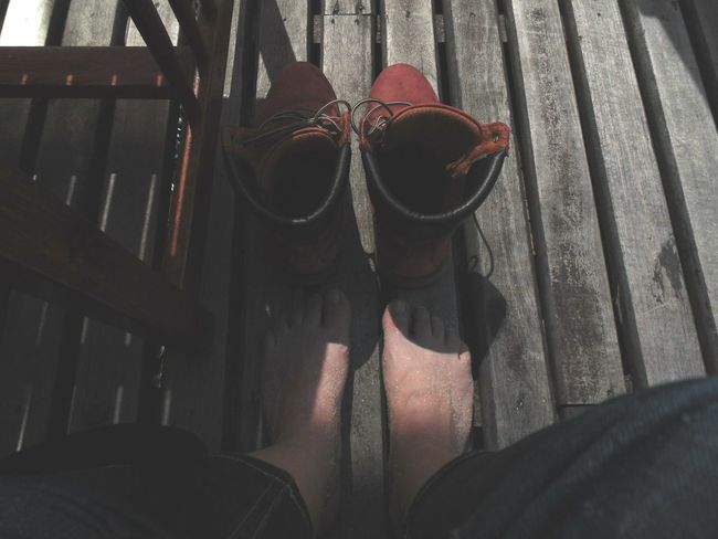 Feel The Journey at Comporta, Portugal Relaxing That's Me Feetselfie Red Boots Enjoying Life Sandy Feet Tourism Beach Life Beachlovers The Essence Of Summer EyeEm Best Shots EyeEm Gallery Floortraits Floortrait Feet Looking Down Personal Perspective Wood - Material A Bird's Eye View