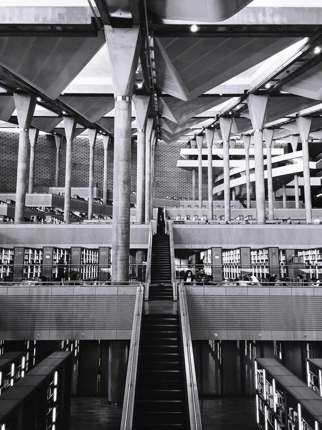 Library Egypt Alexandria Alexandria Egypt History Indoors  Built Structure Architecture Day No People Architecture Biblioteca Books Bc Ancient Ancient History Alexander The Great Stairs Stairs_collection Library Book Library Building Blackandwhite Black And White Symmetry
