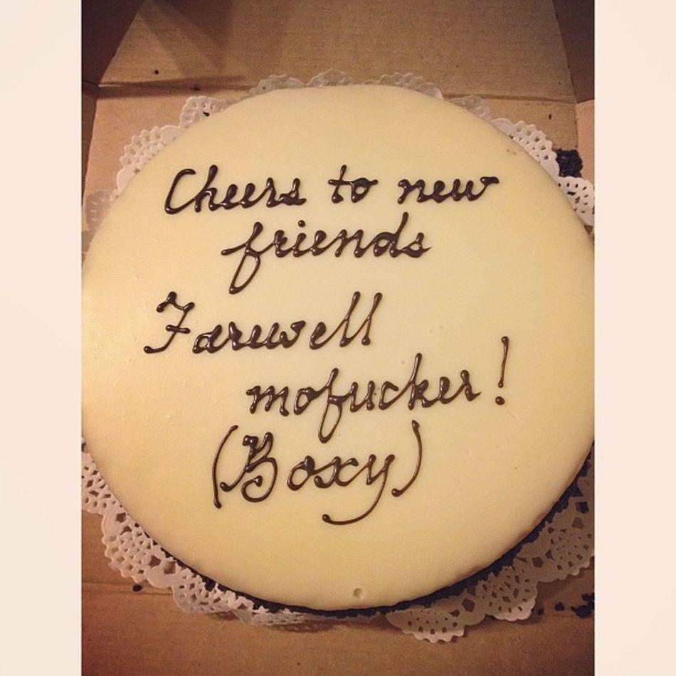 Farewell cake from @stuckinarut666 Itsonlythreemonths
