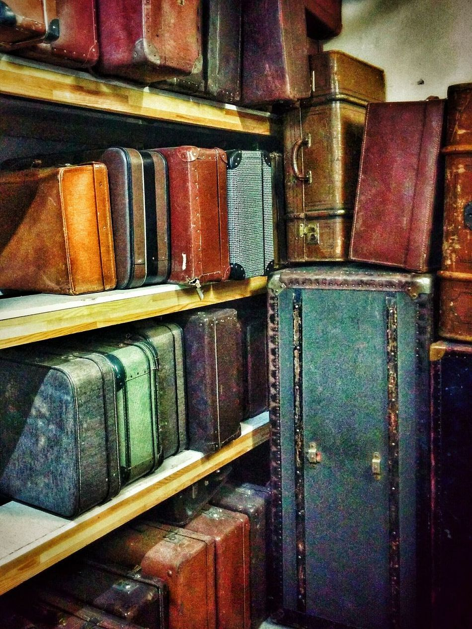 Vintage Retro Old Suitcases from Past Times