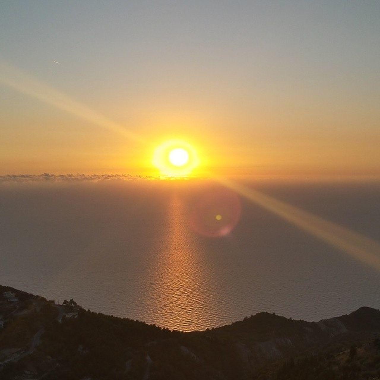 μπαλκονι στο Ιονιο...sun is a god!! Lefkada Sunset Greeksunset Nofilter