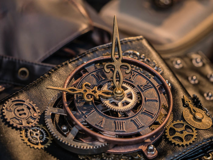 Clock Clockworks Close-up Day Gear Machine Part Metal No People Old-fashioned Outdoors Steampunk Steampunk Fashion Technology Time Watch