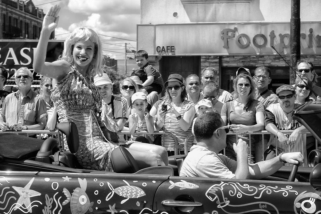 Mermaid Parade Blackandwhitephotography Woman Car Parade Streetphoto_bw Streetphotography Blackandwhite Black & White Coney Island / Brooklyn NY Bikini