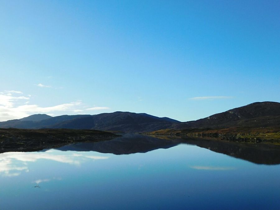 Landscapes With WhiteWall South Uist Scotland Scottish Highlands Reflection Reflections In The Water Still Takenbyme Hills Hillside Clear