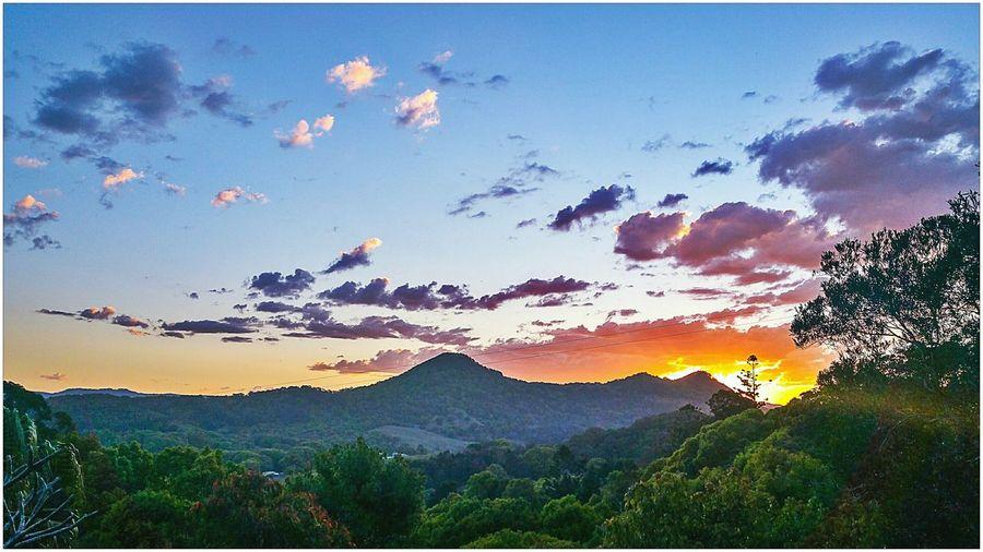 Mullimbimby Hinterland Bush Countryside Sky Clouds And Sky Sun Beautiful Sunset Sunset