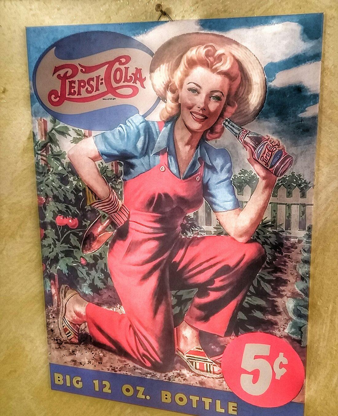 Vintage Photo Pepsicola Printdesign Oldprints