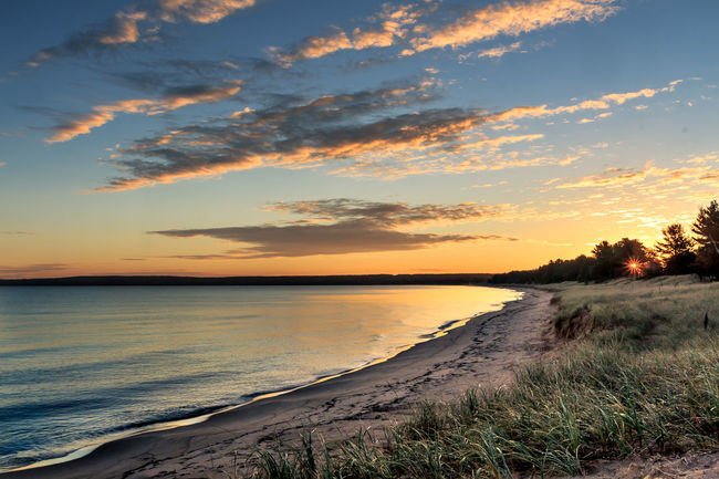 Great Lakes Lake Superior Lakeshore Pure Michigan Shoreline Sunrise Tranquil Scene Upper Peninsula