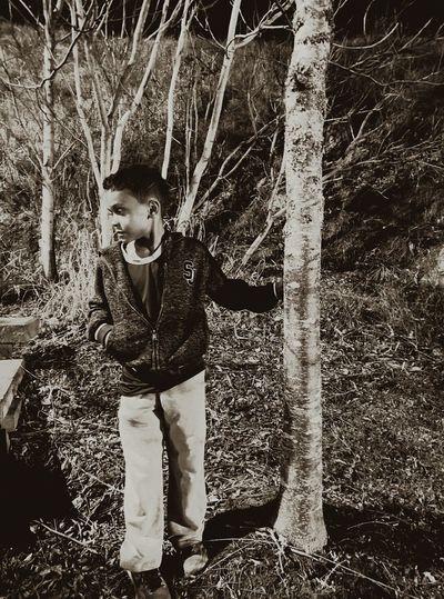 Children Photography Thinking Staring.. Trees Outdoor Photography Black & White Nightphotography Randomshot Hello World
