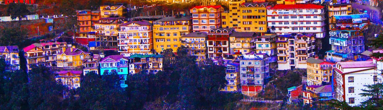 Travel Photography Shimla Colours View From The Top