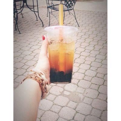 lavendar&honey bubble tea makes me happy ?