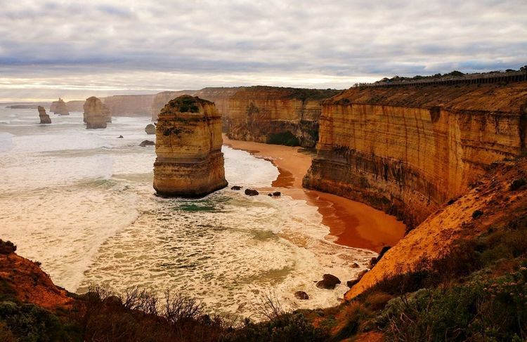 Scenics Summer Sea Beach Check This Out Nature Day Vacations Wave Sunlight Mountain Sky Swimming Outdoors Beauty In Nature Done That. Australia Tranquility Rock Formation Horizon Over Water Cliff Great Ocean Road The Great Ocean Road, Victoria Twelve Apostles