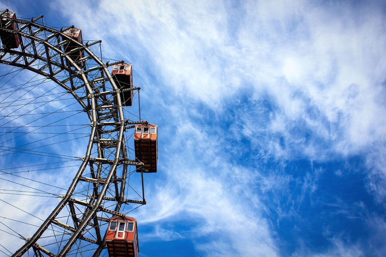 Beautiful stock photos of vienna, Arts Culture and Entertainment, Austria, Big Wheel, Blue