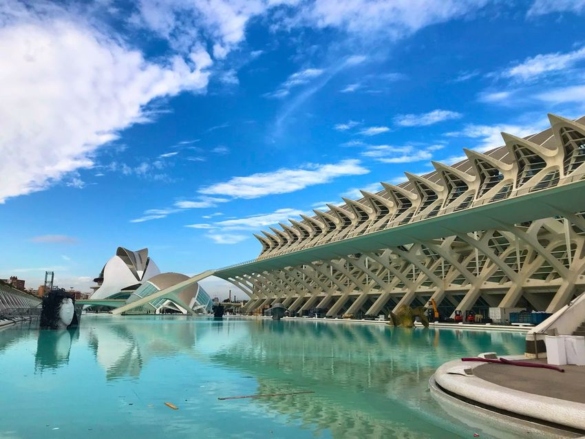 Valencia, España 🇪🇸 Water Architecture Built Structure Sky Building Exterior Arch Waterfront Day No People Travel Destinations Blue Cloud - Sky Outdoors