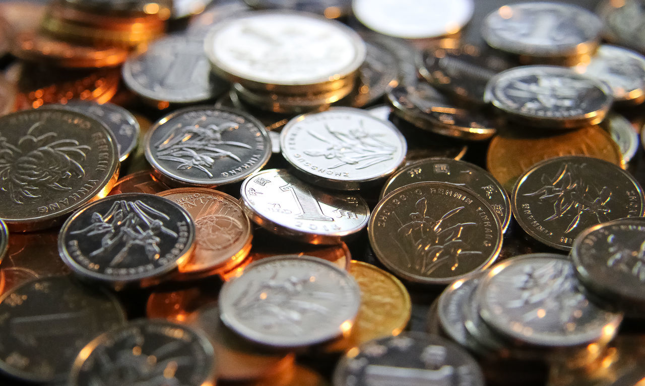 Beautiful stock photos of money, Backgrounds, Close-Up, Coin, Currency