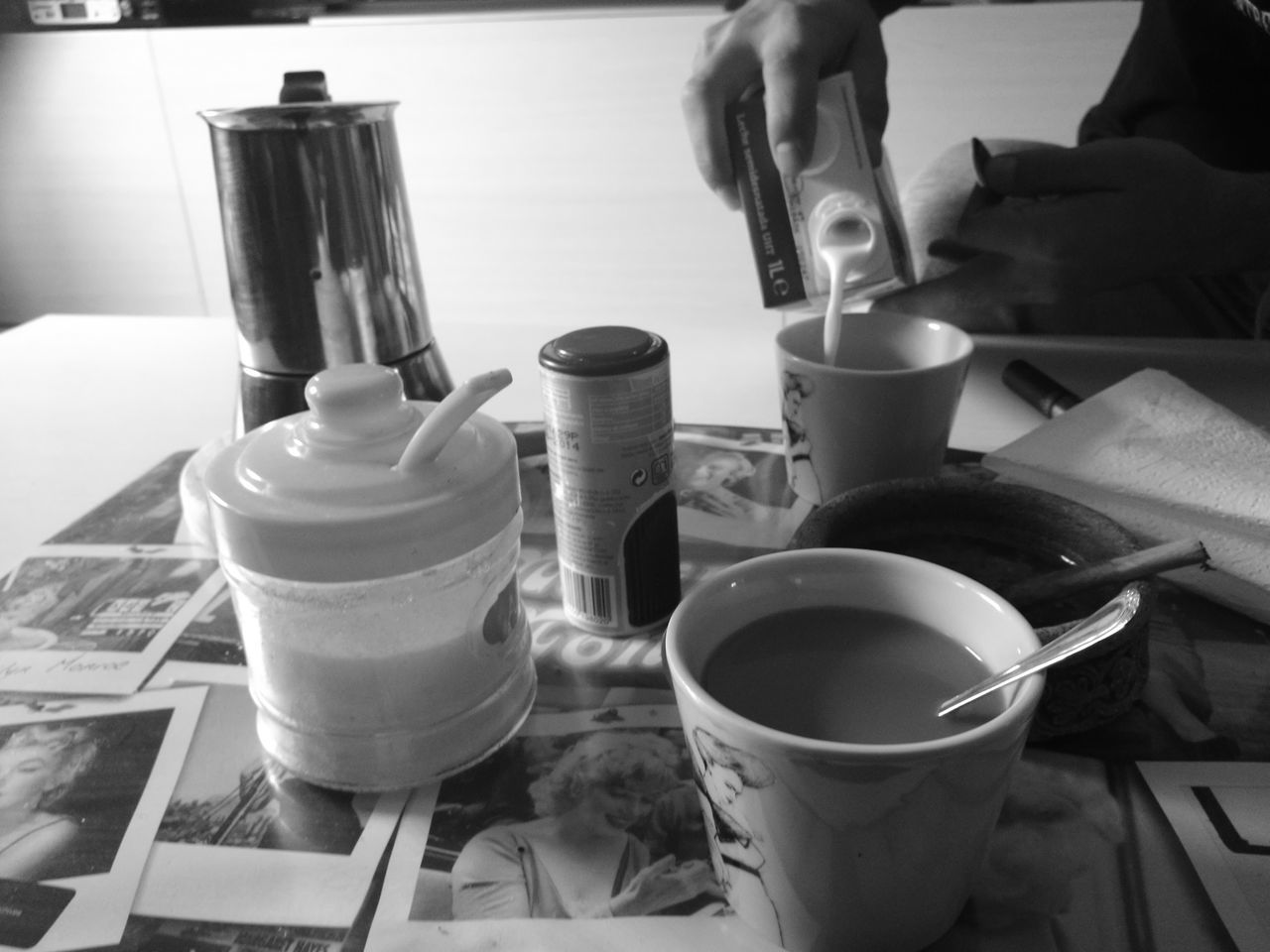Monochrome Photography Black And White Art And Craft Paintbrush Pottery Business Finance And Industry Clay Indoors  Paint Can Horizontal No People Working Close-up Workshop Mixing Day Coffee Time