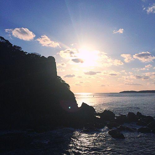 海 長門市 夕日 Nagato-shi The Setting Sun The Sea 석양 나가토 시 바다 Holiday