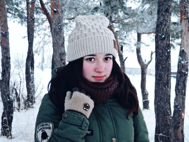 зима знакомая бор