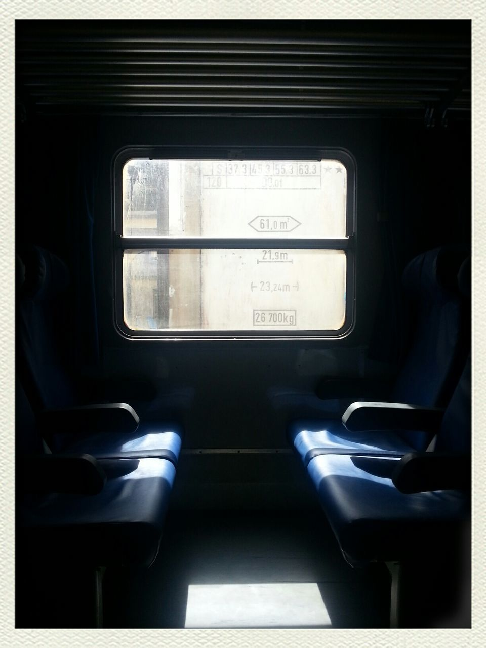Train Cabin With Empty Seats