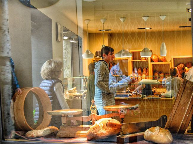 Indoors  Person Bakery Reflection
