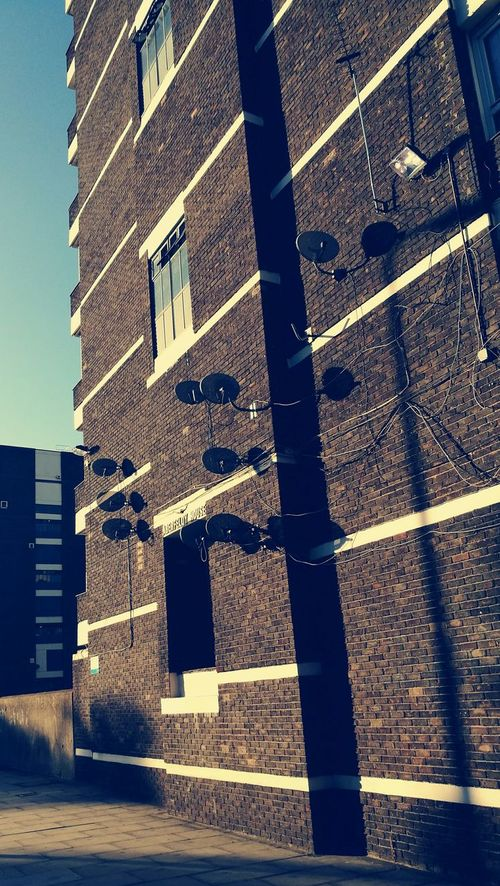Sattelitedish London Sreetphotography Housing Estate Londonlife Urbanphotography Wall Sattelite Dish