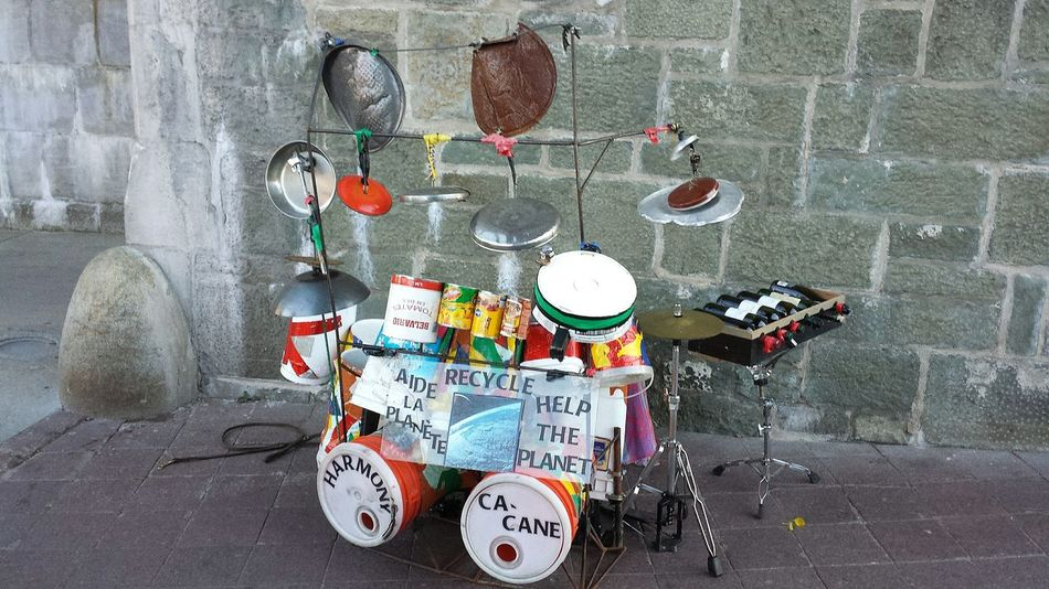 Recycling Recycle Recyclage Drumkit Homemade Plastic Green Music Music