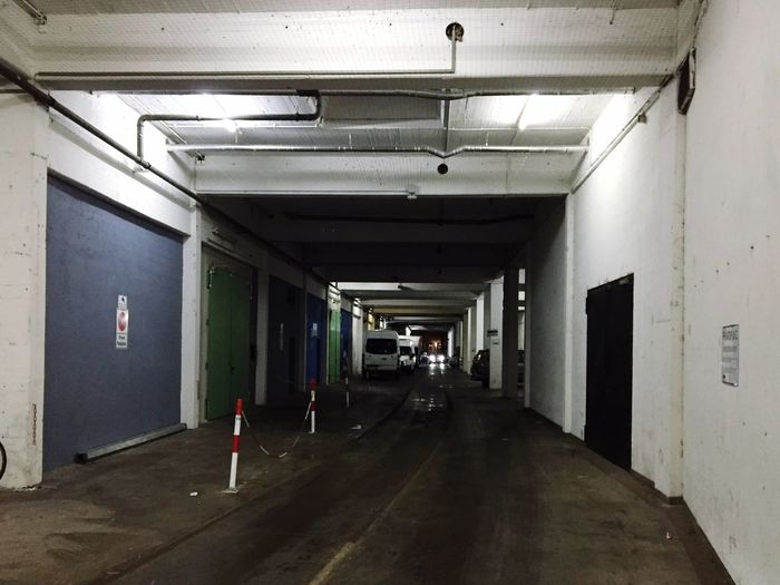 Tunnel Garage Walkway Cars Car Lights Architecture Yard Driveway Street Passage Thoroughfare