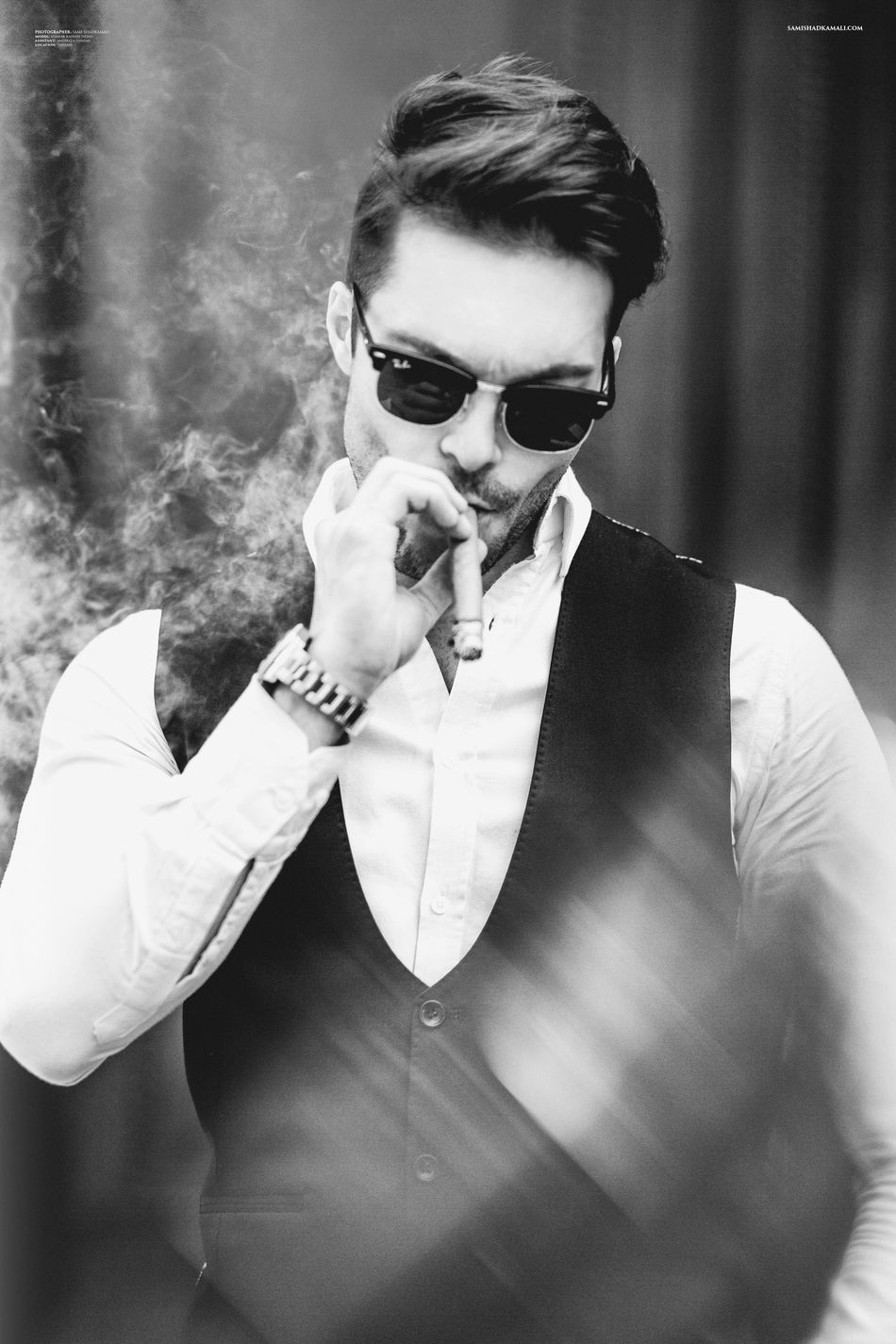Modeling Male Malemodel  Model Black & White Fashion Photography Bow Tie Sunglasses One Person Reflection Shahabkashefi Iranian Persian Vogue GQ Style Fashion