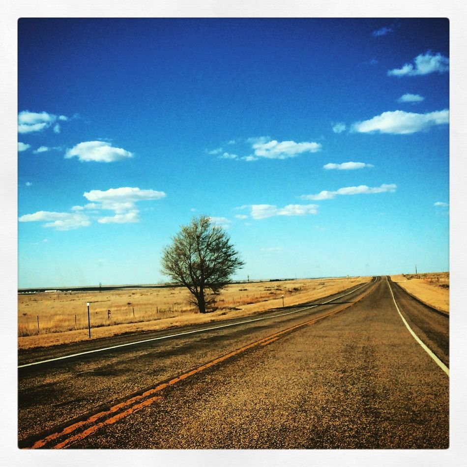 Alone on the road!!! Driving On The Road Landscape Texas My Smartphone Life Showing Why I Could Be An Open Editor EyeEm Best Shots My Best Photo 2015