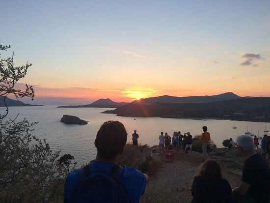 Sunset in Sounio, Greece Ancient Beach Beauty Beauty In Nature Day Greece Landscape Mountain Nature Outdoors People Photographer Photography Themes Scenics Sky Sounio Sunset Tourism Travel Travel Destinations Vacations