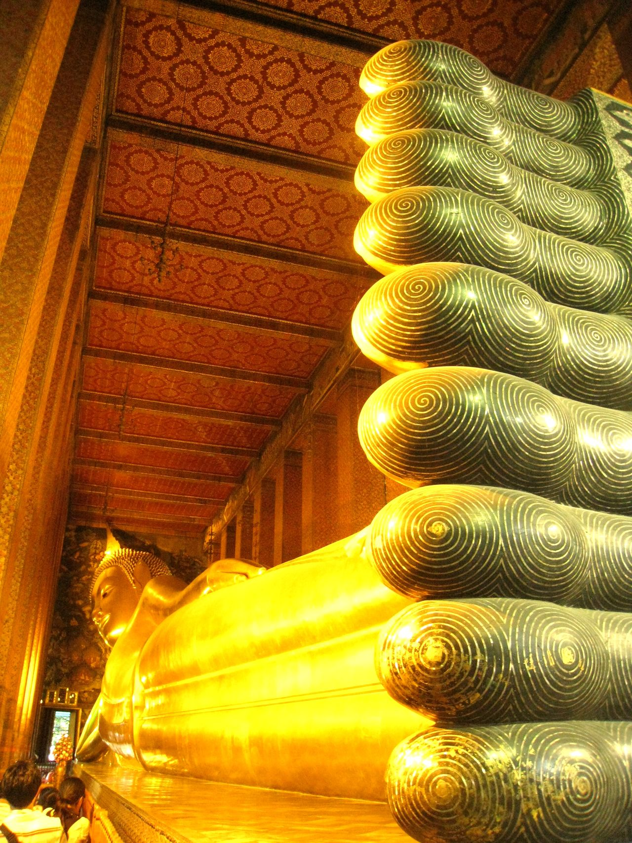 Bangkok Buddha Buddhism Golden Religious  Temple Temple Of The Reclining Buddha Thailand Tourist Attraction  Wat Pho Wat Phra Chetuphon Vimolmangklararm Worship