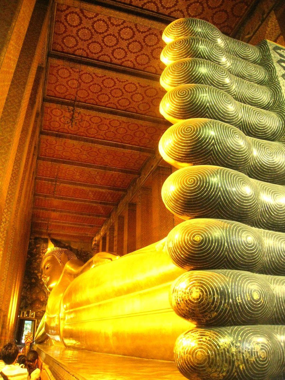 Bangkok Buddha Buddhism Golden Religious  Temple Temple Of The Reclining Buddha Thailand Tourist Attraction  Wat Pho Wat Phra Chetuphon Vimolmangklararm Worship
