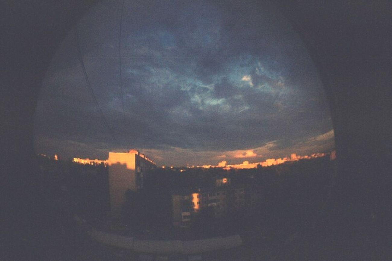 Ночь вид из окна