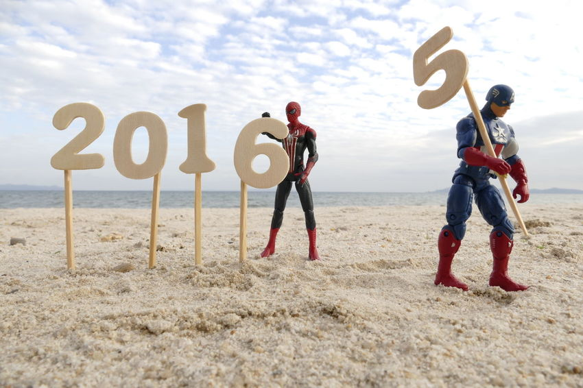 Happy New Year everyone Beach Enjoyment EyeEm Best Edits EyeEm Best Shots EyeEm Gallery EyeEmBestPics Fun Happy New Year 2016 Happynewyear Heroes Men Photooftheday Sand Sky And Clouds Taking Photos Toy Photography Toys