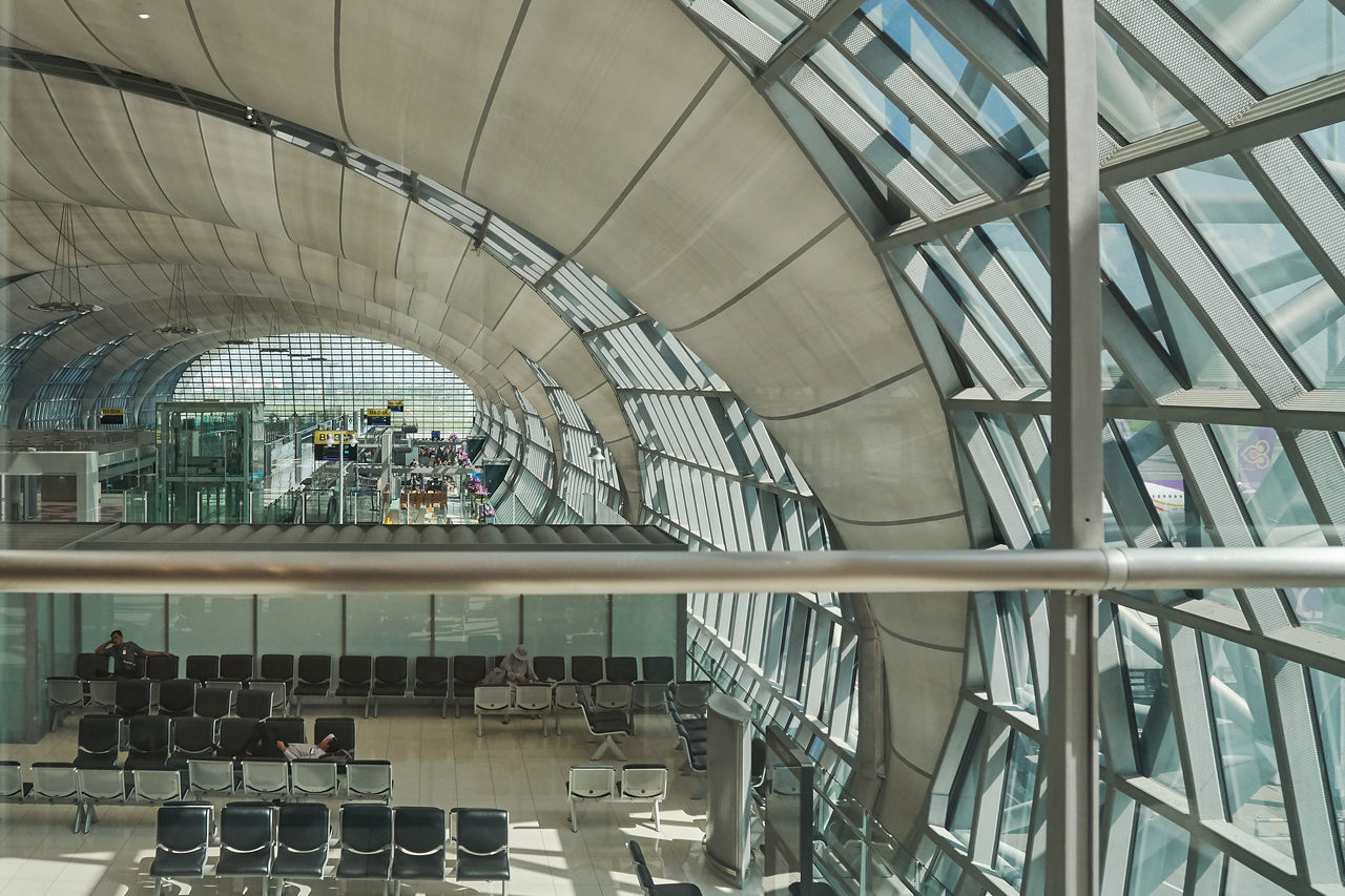 Airport Architecture Arcs Built Structure Day Indoors  Light No People Travel